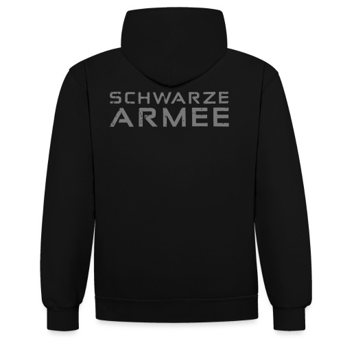 Grey Negant logo + SCHWARZE ARMEE! - Kontrast-hættetrøje