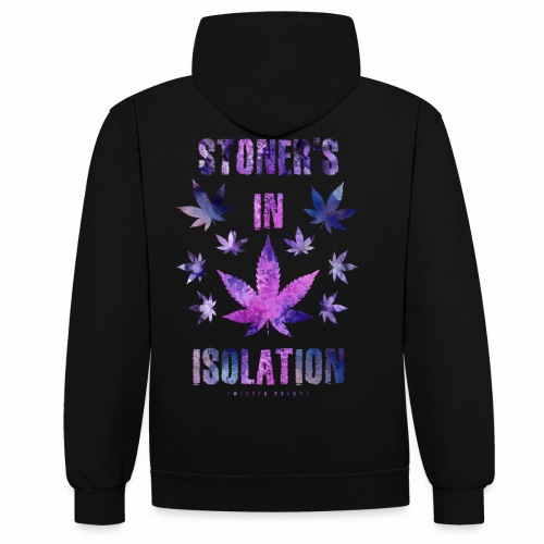 Stoners In Isolation - Contrast Colour Hoodie