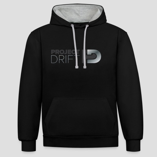 Project Drift LOGO 04 png - Contrast Colour Hoodie