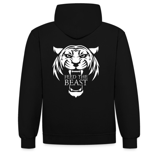 STRONGER - Feed The Beast - Contrast hoodie