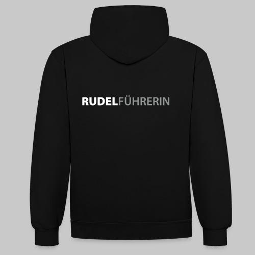 Rudelführerin - Kontrast-Hoodie