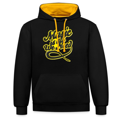 Music Is All We Need - Contrast Colour Hoodie