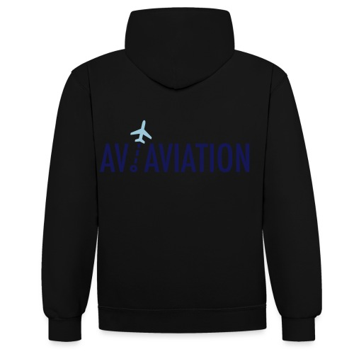 Full Logo - Contrast Colour Hoodie