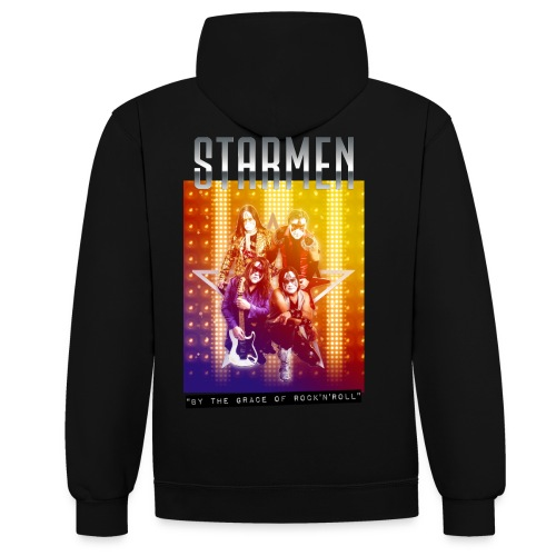 Starmen By the Grace of Rock'n'Roll - Contrast Colour Hoodie