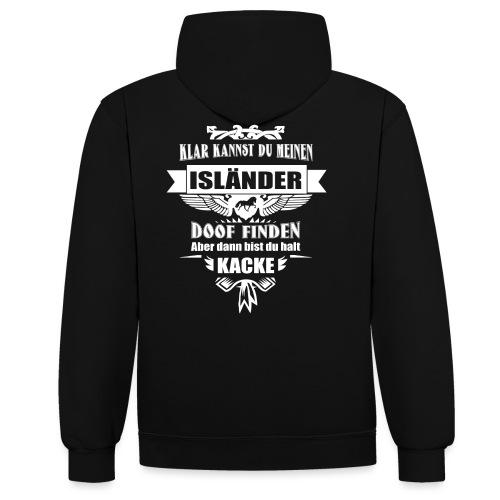 Isländer - Kontrast-Hoodie