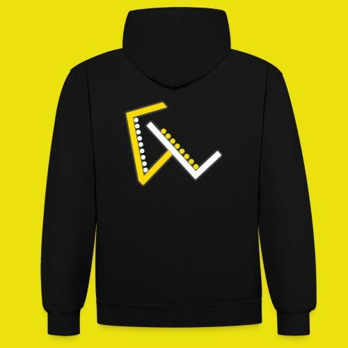 Giulio Laura FX T-Shirt - Felpa con cappuccio bicromatica