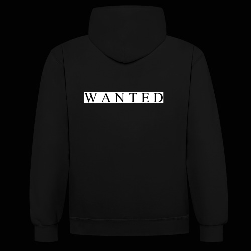 Wanted ecrit - Sweat-shirt contraste