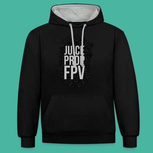 JuicePropFPV LOGO Pile TEXT Black DOUBLE - Kontrast-Hoodie