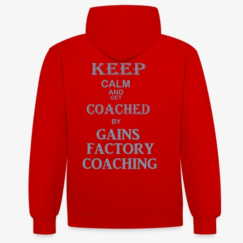 GAINS FACTORY COACHING - Kontrast-Hoodie
