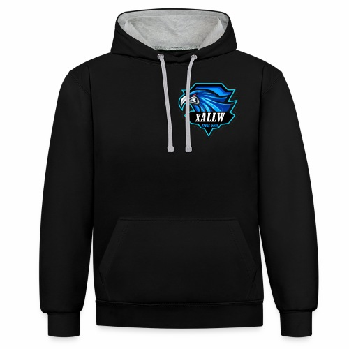 xallw logo - Kontrast-Hoodie