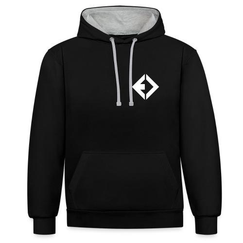 ENAMIC Icon & Logo weiß - Kontrast-Hoodie