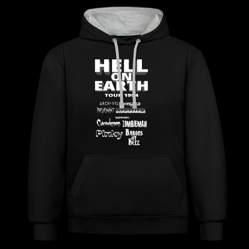HELL ON EARTH TOUR 1994 - Contrast Colour Hoodie