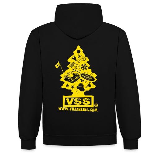 Logo sapin jaune png - Sweat-shirt contraste