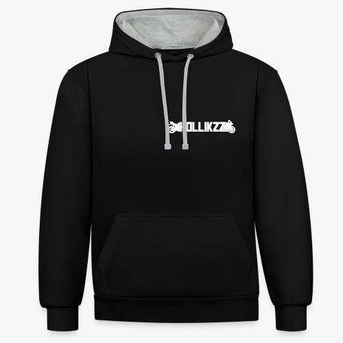 sticker-Hollikzz-vektor - Kontrast-Hoodie