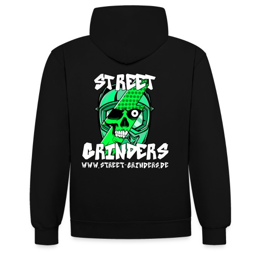 Street Grinders Merch Grün - Kontrast-Hoodie