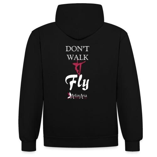 Dont walk fly - Felpa con cappuccio bicromatica