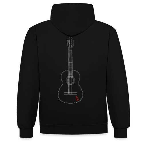 Gitarre - Kontrast-Hoodie