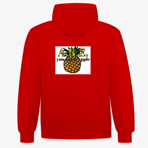 Are you a pineapple - Contrast Colour Hoodie