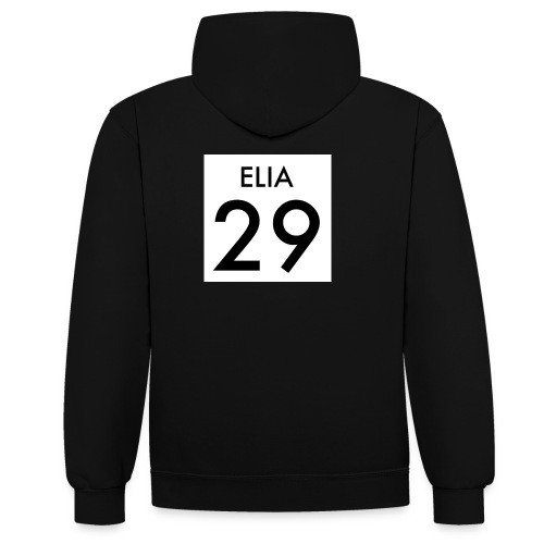 29 ELIA - Kontrast-Hoodie