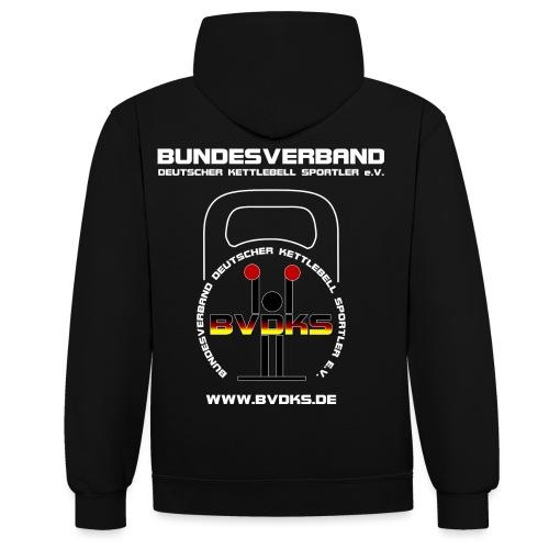 BVDKS Black White - Kontrast-Hoodie