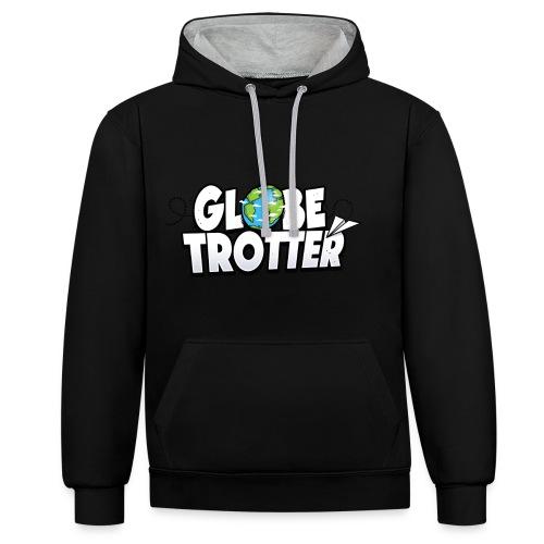 Globe Trotter - Typo - Sweat-shirt contraste