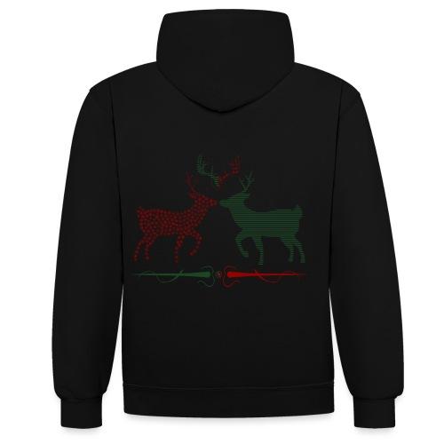 Christmas deer - Contrast Colour Hoodie
