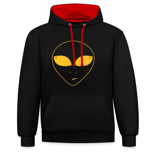 planet ambi alien clothing - Contrast Colour Hoodie