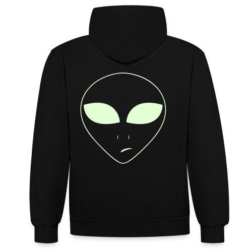 planet ambi alien clothing - Contrast Colour Hoodie