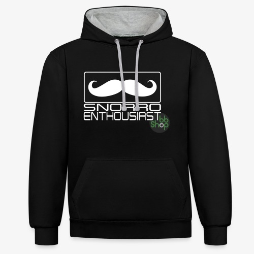Snorro enthusiastic (white) - Contrast Colour Hoodie