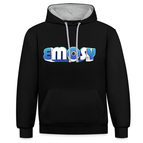 Em0sy - Felpa con cappuccio bicromatica