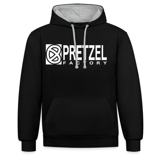 Pretzel Factory Logo Blanc - Sweat-shirt contraste