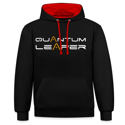 Quantum Leaper White - Contrast Colour Hoodie
