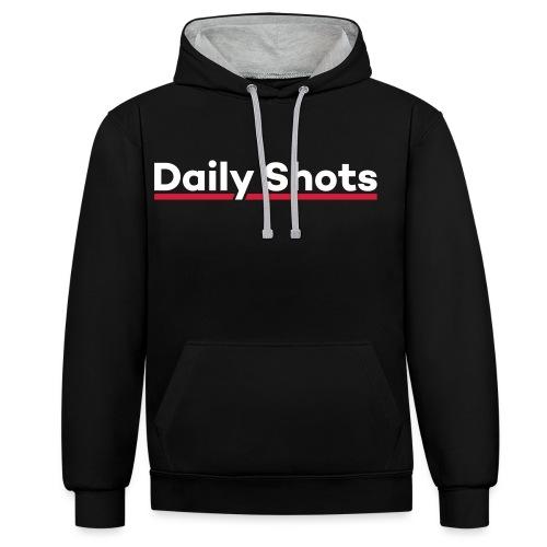 Daily Shots - Kontrast-Hoodie