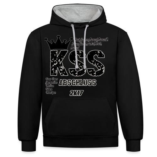 Abschluss 2017 KSS, Kleidung + Name! - Kontrast-Hoodie