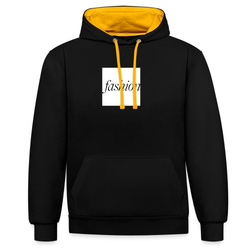 fashion - Contrast hoodie