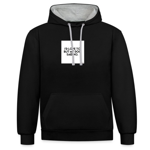Big Boss said no - Contrast Colour Hoodie