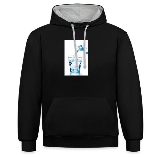 Glas-water-jpg - Contrast hoodie
