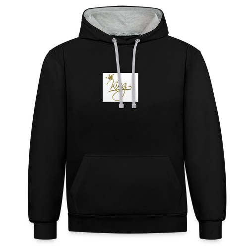 King wears - Contrast Colour Hoodie