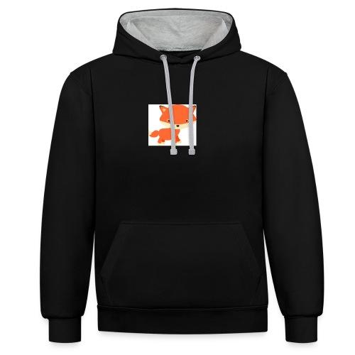 fox_1 - Contrast hoodie
