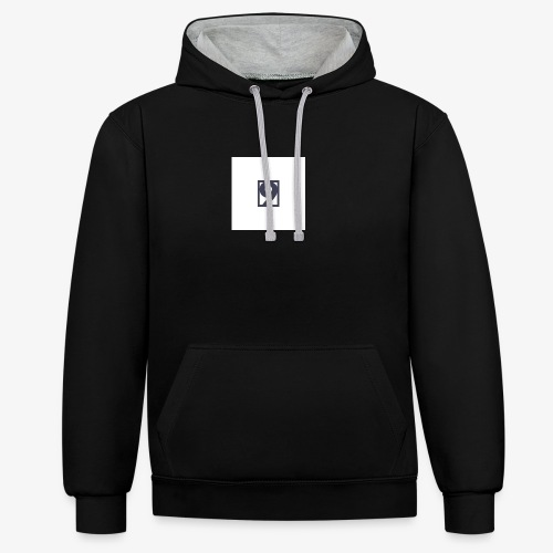 9 Clothing T SHIRT Logo - Contrast Colour Hoodie