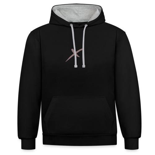X-Clothing v0.1 - Sudadera con capucha en contraste
