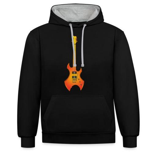 200317 Gold Rock Guitar - Sudadera con capucha en contraste