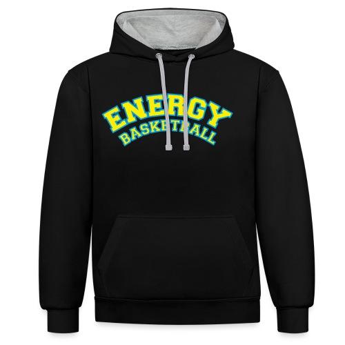 eco logo energy basketball giallo - Felpa con cappuccio bicromatica