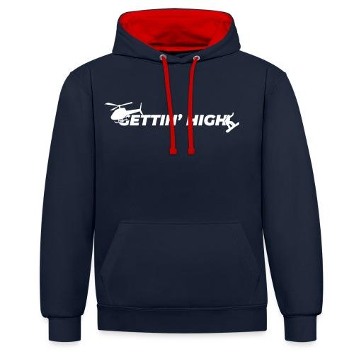 Gettin High - Sweater collection - Felpa con cappuccio bicromatica