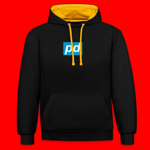 pd Blue - Kontrast-hættetrøje
