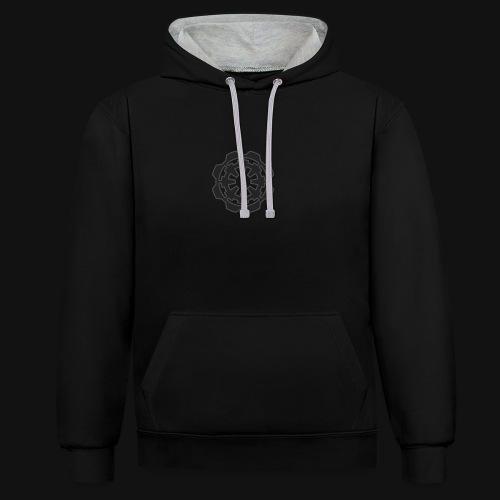 DarkerImage Black on Black (LIMITED) - Contrast Colour Hoodie