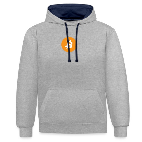 Bitcoin - Contrast Colour Hoodie