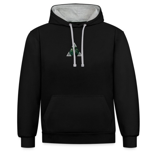 Triangle Forest window - Contrast Colour Hoodie