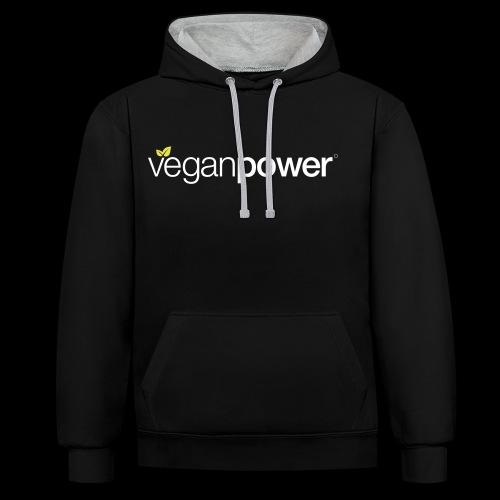 veganpower Lifestyle - Kontrast-Hoodie