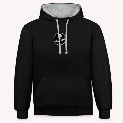 motorcycle Logo 2 - Contrast Colour Hoodie